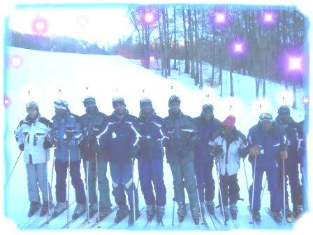 mes collègues et moi, en stage de ski à Ancelle